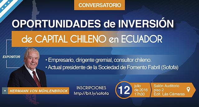 Oportunidades de Inversión de Capital Chileno en Ecuador