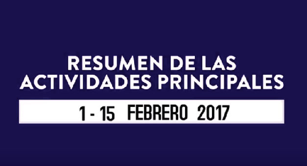 Resumen de actividades CCG – 1 al 15 febrero