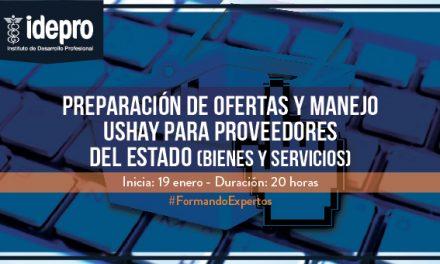 Preparación de ofertas y manejo Ushay para proveedores del Estado