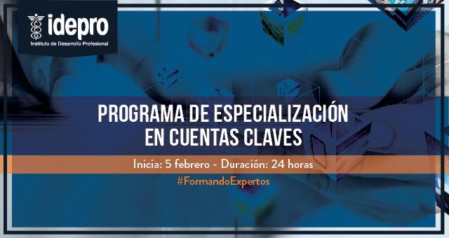 Programa en Especialización de cuentas claves
