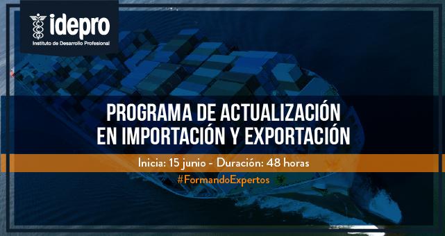 Programación de Actualización en Importación y Exportación