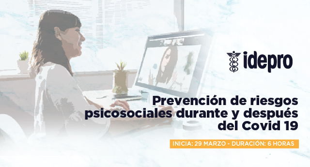 Prevención de riesgos psicosociales durante y después del Covid19