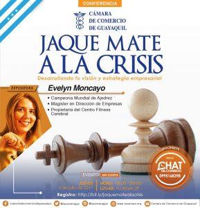 """""""Jaque Mate a la crisis: Desarrollando tu visión y estrategia empresarial"""" con Evelyn Moncayo"""