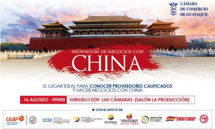 Showroom de negocios con China