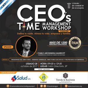 Time Management Workshop CEO'S 2DA EDICIÓN con Pablo Arosemena