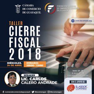 Taller de Cierre Fiscal 2018 @ Guayaquil